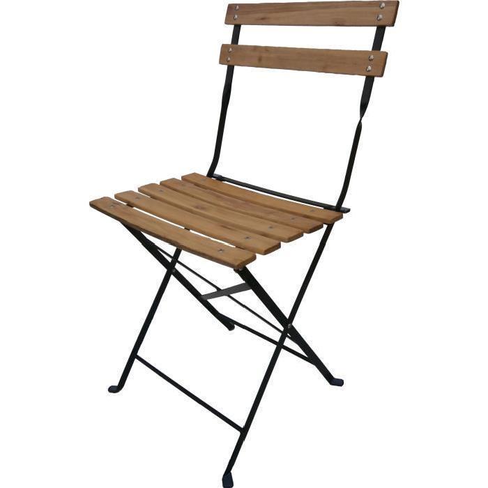 chaise pliante bois et fer chaise