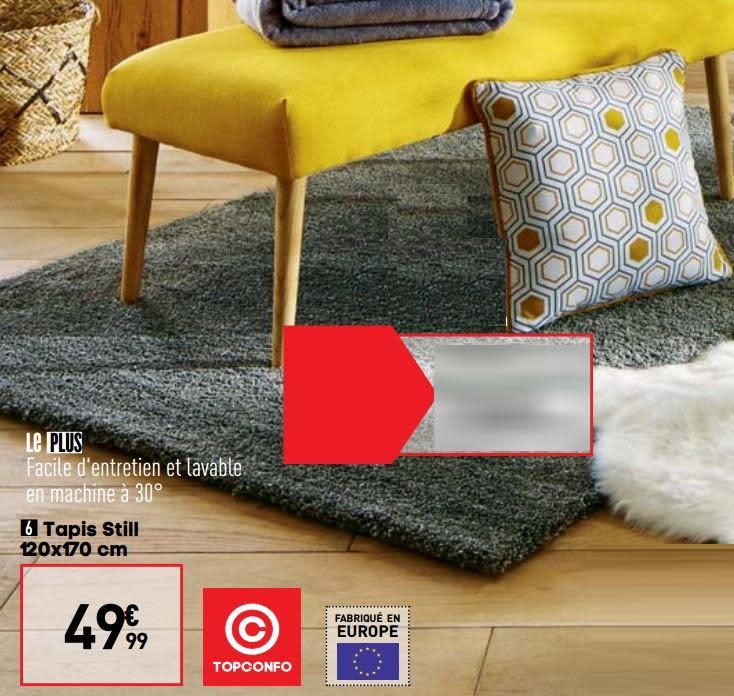 tapis 160x230 cm denver coloris beige 2