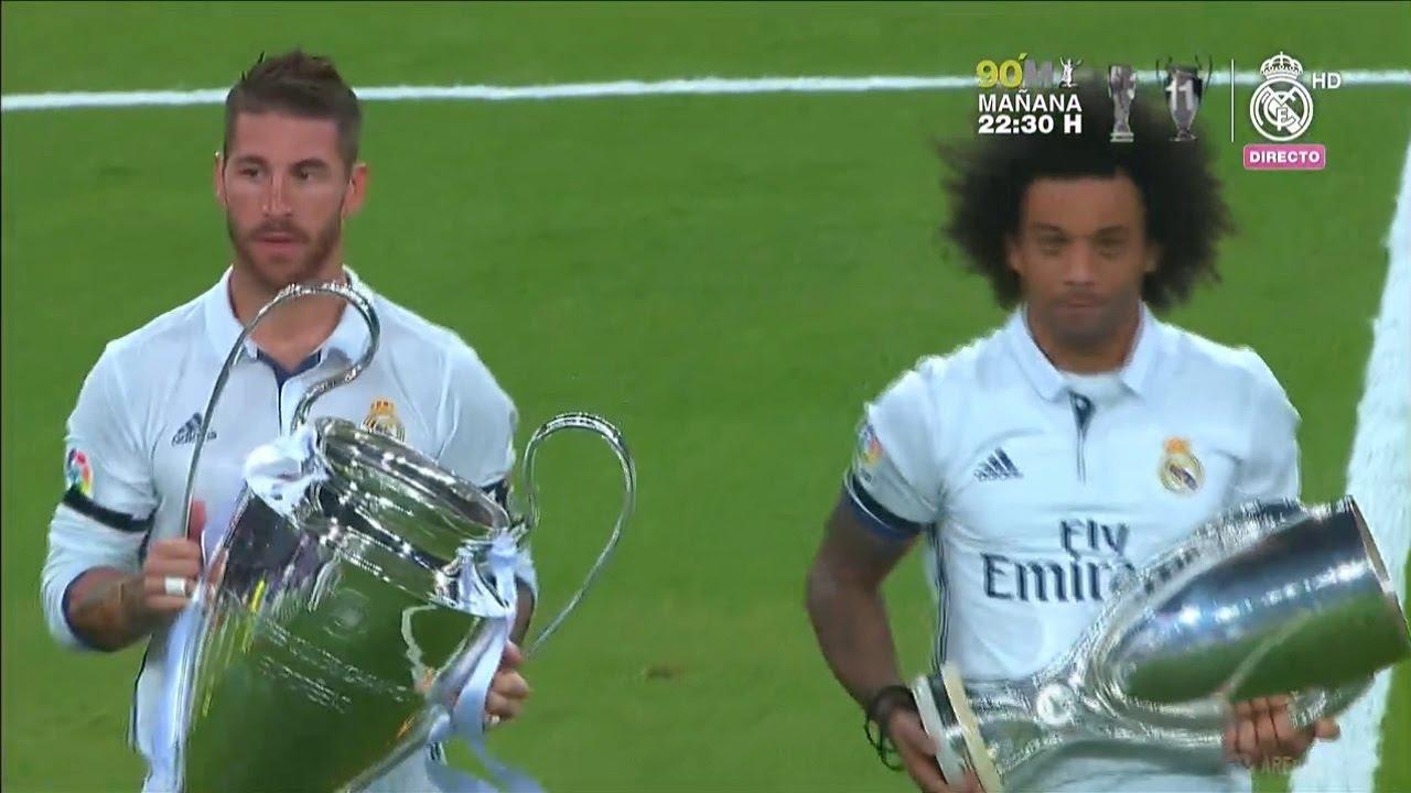 Cerimonia undicesima e la Supercoppa Real Madrid cerimonia 2016