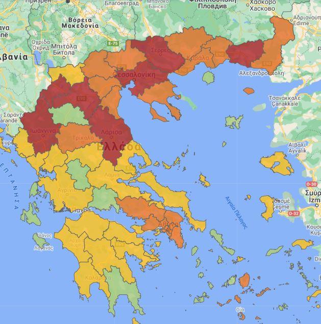 Τα νέα μέτρα θα ισχύσουν στις πορτοκαλί και κόκκινες περιοχές για ένα μήνα