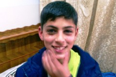 14-year-old Mohammed Khalek, jailed in Israel.