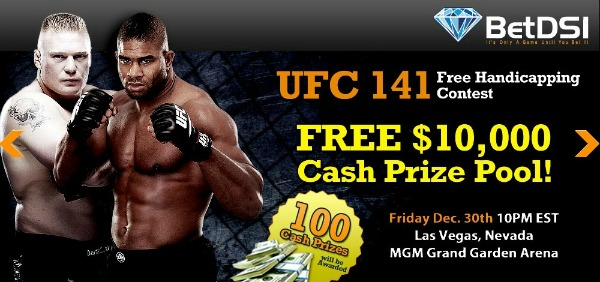 UFC 141 Free Handicapping Contest with $10,000 Prize Pool