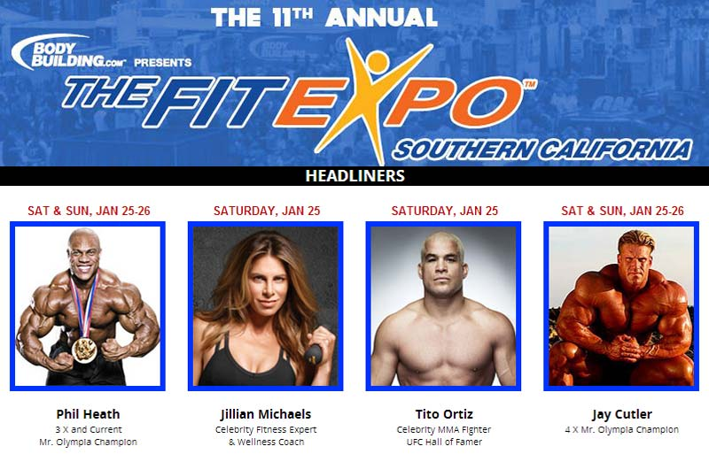 The Fit Expo Returns to the Los Angeles Convention Center January 25-26