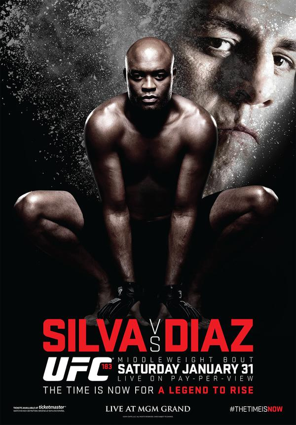 "UFC 183: ""Diaz vs Silva"" poster unveiled"