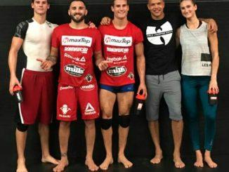 Enrique Marin y Sage Northcutt entrenando en Houston