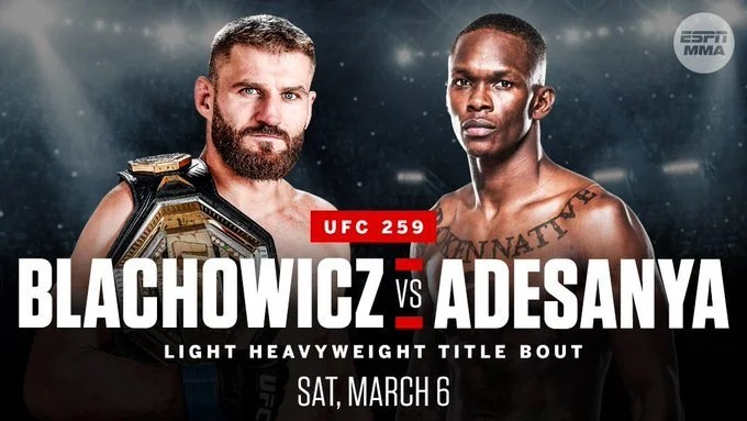 Jan Blachowicz vs. Israel Adesanya Set For UFC 259 | FIGHT SPORTS