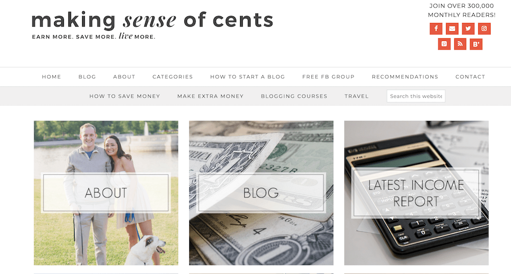 Making Sense of Cents homepage