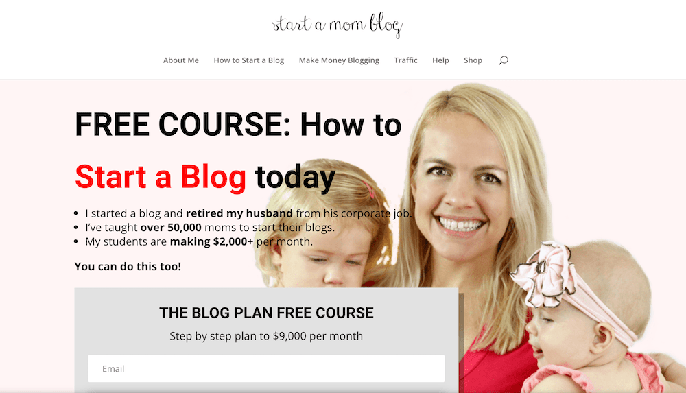 Start a Mom Blog home page