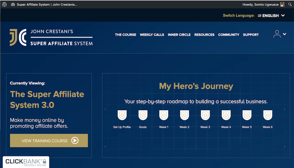 Super Affiliate System 3.0 Hero's Journey
