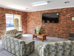 Conference room BIG4 Figtree Warrnambool. Ideal for large groups. Large flat screen TV. Great for Probus clubs. NRMA Parks & resorts. Discovery Parks.