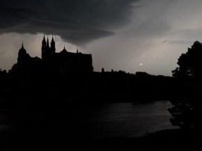 Gewitterwolke über Albrechtsburg | 01.08.2017