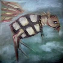 """""""Granat"""", Öl, 40 x 40, 2008"""