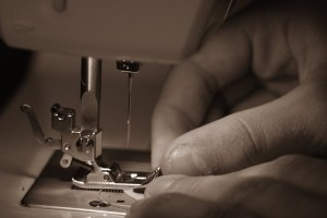 person sewing
