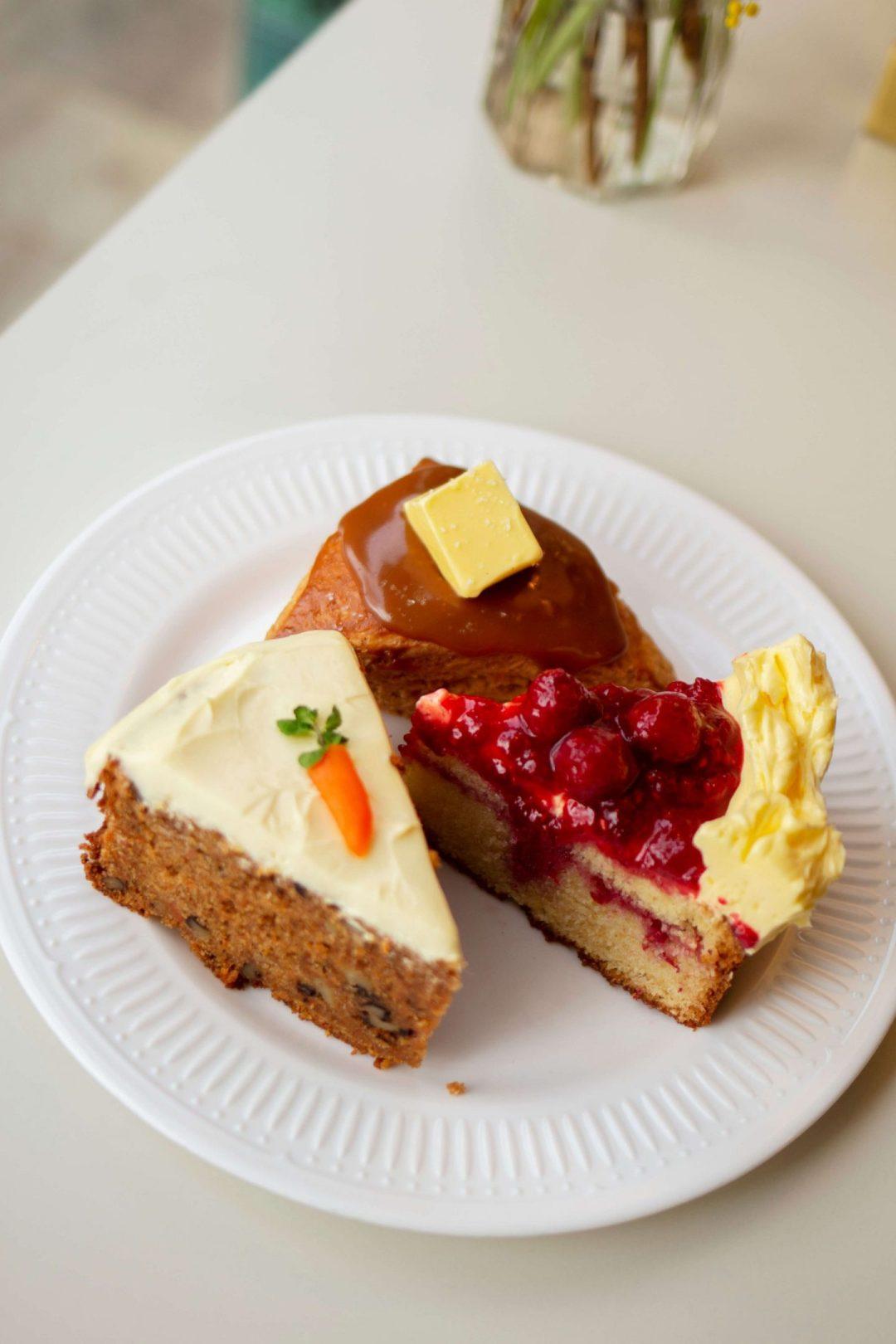 cafe layered anguk station carrot cake korea