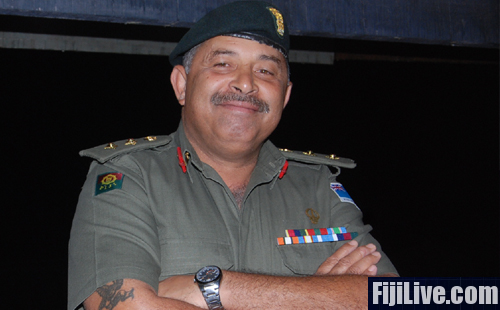 Republic of Fiji Military Forces (RFMF) Land Force Commander Colonel Mosese Tikoitoga at the Infantry Day today. Photo: Avikash Chand