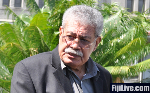 Former director of Fijian Holdings Limited Laisenia Qarase makes his way out of the High Court in Suva. He was found guilty of all nine charges by the assessors this afternoon and a judgement will be delivered tomorrow. Photo: Kunal Keshneel.