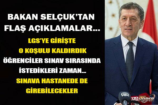 Milli Eğitim Bakanı Ziya Selçuk duyurdu: LGS'ye girecek öğrenciler dikkat! 2