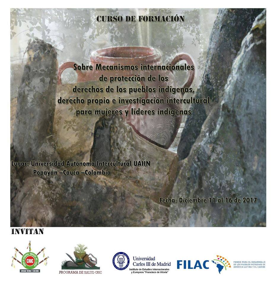 Curso de Formación sobre Mecanismos Internacionales de Protección de los Derechos de los Pueblos Indígenas para mujeres y líderes indígenas