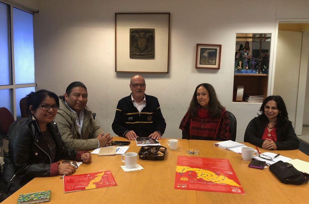 El FILAC sostuvo hoy una reunión con autoridades de la UNAM, con el objetivo de coordinar actividades académicas para esta gestión.