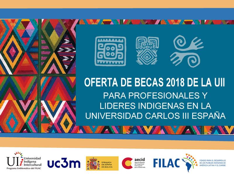 UII abre convocatoria a Becas 2018 destinada a profesionales y líderes indígenas para cursar postgrado en la Universidad Carlos III, España
