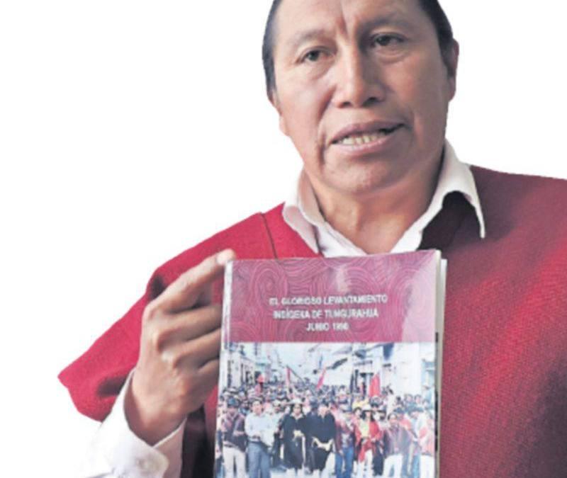Indígena kichwa plasma gesta histórica, en libro