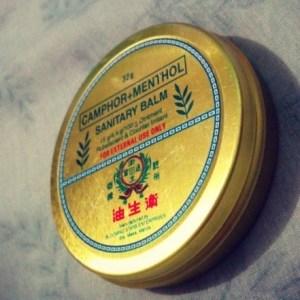 Sanitary Balm: Camphor, Menthol