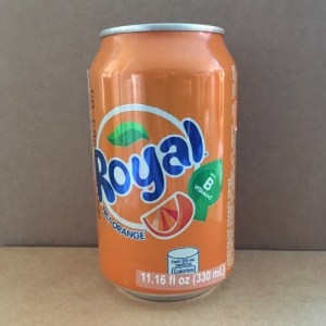 Royal Tru-Orange Canned Soda