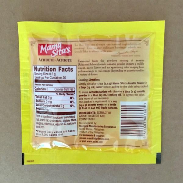 Annatto Powder Ingredients