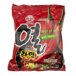 Very spicy Korean instant noodles