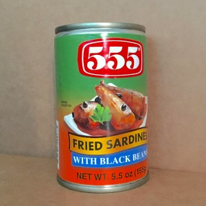 555 Fried Sardines with Black Beans