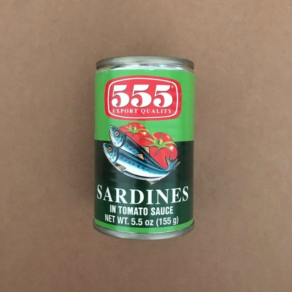 555 brand of Canned Sardines