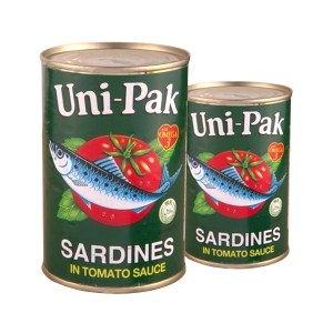 Unipak Sardines in Green Cans