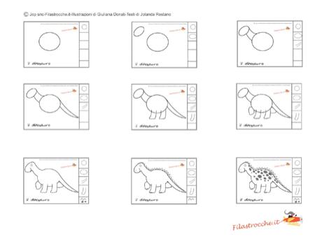 Impariamo A Disegnare Il Dinosauro Le Istruzioni