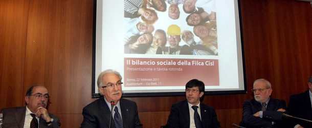 PRESENTATO IL BILANCIO SOCIALE DELLA FILCA-CISL