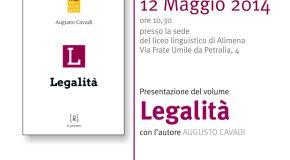 """ALIMENA (PA), PRESENTAZIONE DEL VOLUME """"LEGALITA'"""""""