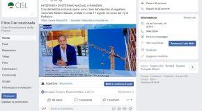 LA FILCA-CISL NAZIONALE E' ANCHE SU FACEBOOK!