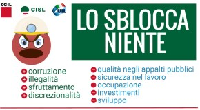 SBLOCCACANTIERI, MARTEDI' PRESIDIO A MONTECITORIO CON CGIL CISL UIL