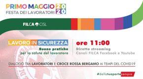PRIMO MAGGIO E SICUREZZA SUL LAVORO: EVENTO SOCIAL FILCA-CROCE ROSSA ITALIANA