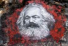 Retrato de Marx pintado por Thierry Ehrmann,