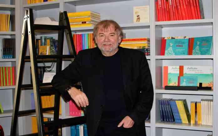 Jostein Gaarder en la sede de la editorial Siruela, donde ha publicado toda su obra. Foto: Deyanira López.