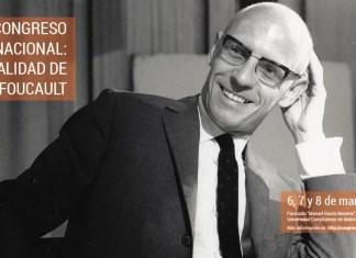 Cartel del Congreso sobre Foucault que organiza la Universidad Complutense de Madrid (España).
