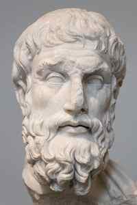 Cabeza de Epicuro. Copia romana de la era imperial (siglo II antes de Cristo) de un original griego.