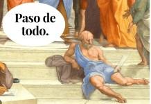 """Detalle de """"La escuela de Atenas"""" de Rafael Sanzio (1509). Dominio público."""