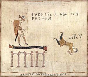 """El """"Yo soy tu padre"""" de Star Wars en versión medieval."""