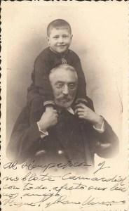 Miguel de Unamuno y su hijo Ramón. CC BY-SA 4.0 Autor: Roberto Gutiérrez López