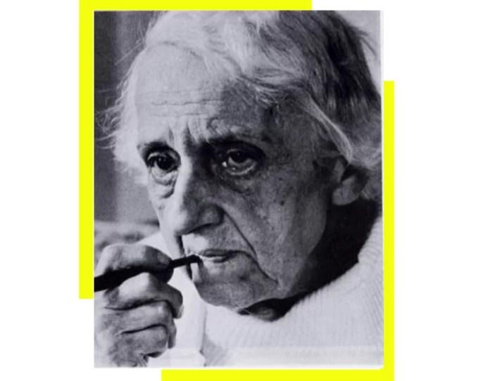 María Zambrano (1904-1991).Diseño a partir de imagen de Flickr, davide vizzini, bajo licencia Creative Commons Attribution 2.0 Generic (CC BY 2.0).