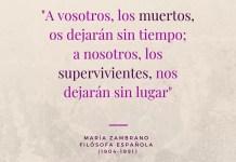 Frase filosófica de María Zambrano