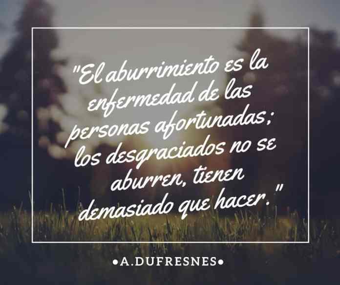 Frase filosófica Abel Dufresnes