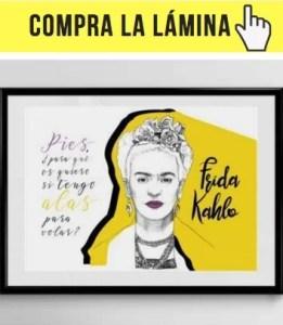Lámina Frida Kahlo de Filosofers. Puedes comprarla haciendo clic aquí.