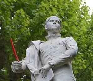 Estatua de Étienne de La Boétie (Tony Nöel, 1892) en su ciudad natal, Sarlat-la-Canéda, Francia.